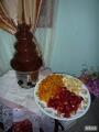 Fuente de chocolate y licor, colchon
