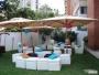 Lounge, puff, cubos, muebles redondos,