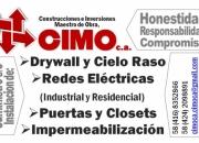 DRYWALL, CIELO RASO, REDES ELECTRICAS