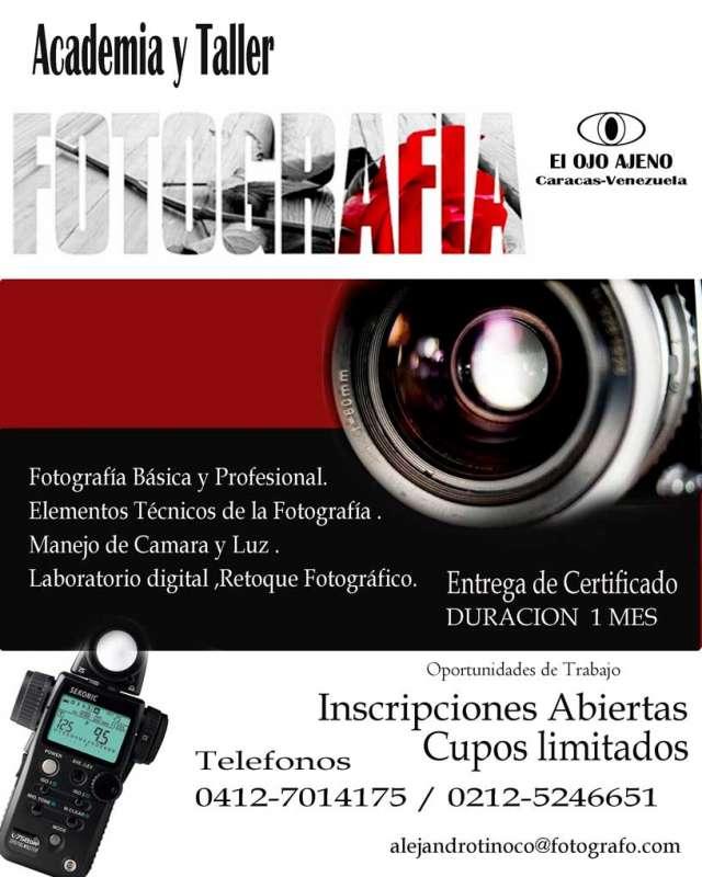 """Curso de """"técnicas y artes fotográficas"""""""