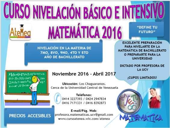 Curso nivelación de matemática bachillerato 2016-2017