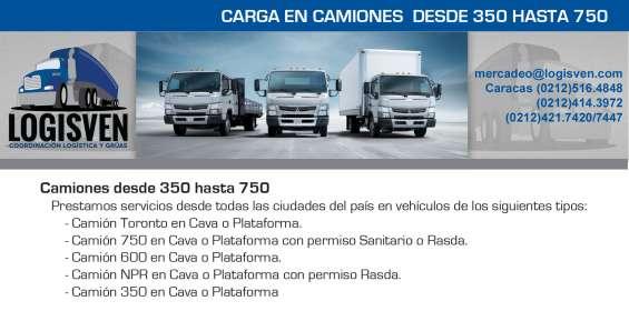 Camiones de 350 a 750