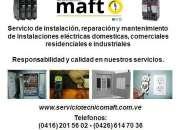 Técnico electricista en caracas Instalacion Reparacion Mantenimiento