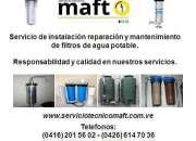 Instalación mantenimiento reparación de filtros de agua en caracas