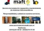 Reparación instalación de hidroneumáticos de agua en Caracas