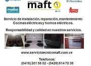 Instalación reparación de cocinas eléctricas hornos Caracas