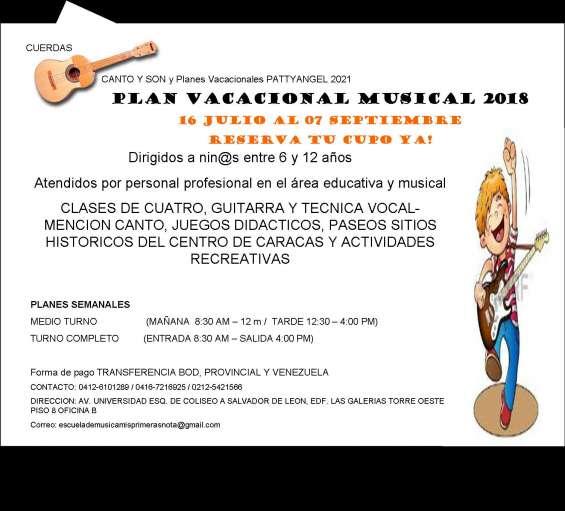 Planes vacacionales musicales