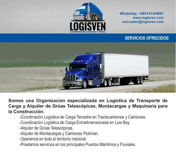 Transporte logisven- maquina de construcción pata de cabra en arismendi bolívar