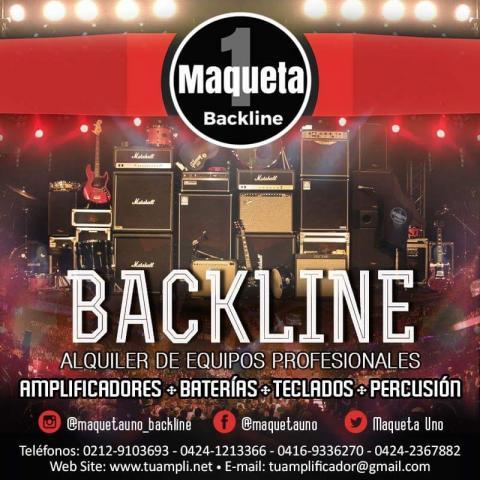 Alquiler backline para eventos: amplificadores, baterías, teclados, percusión