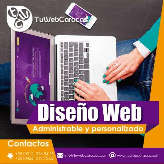 Diseño web caracas venezuela paginas personalizadas