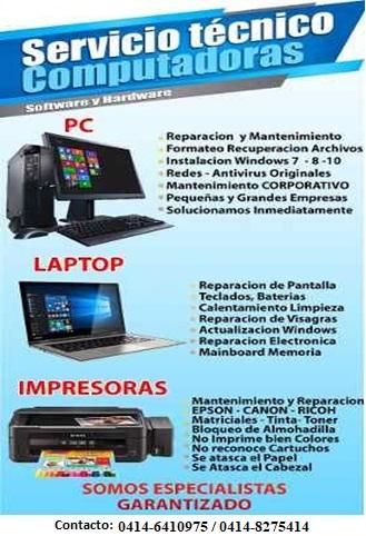 Reparacion de fotocopiadoras, impresoras, computadoras