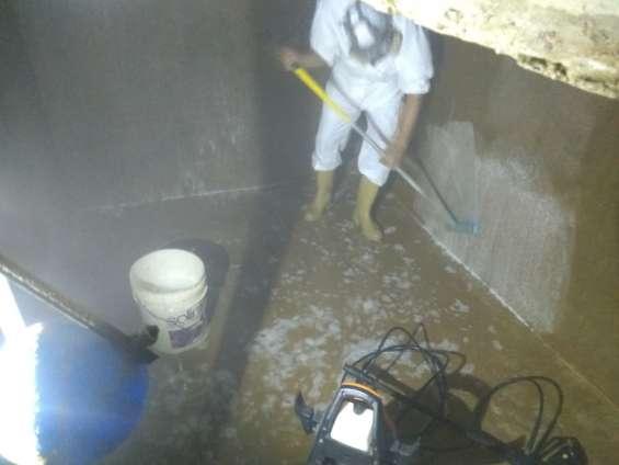 Limpieza y desinfección de tanque en maracay